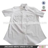 new design pilot uniform shirt fitted blouse dress shirt