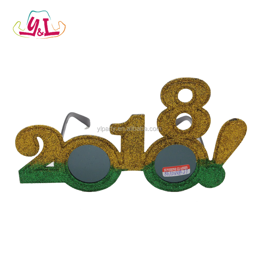Happy New Year 2017 Plastic Crazy Makeup Party Glasses