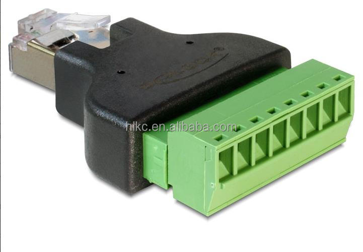 RJ45 spliter RJ45 plug RJ45 connector For CCTV Camera System DVR