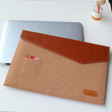 2016 Fashion Waterproof Laptop Sleeve 11 12 13 Laptop Cover Natual Ook Cork Notebook Case For Macbook Air Pro