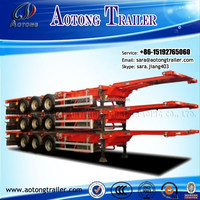 China 3 axle 20 ft/40ft skeleton shipping container semi trailer/container chassis