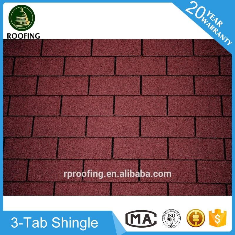 Wholesale 3-Tab roof shingle,roofing material with high quality