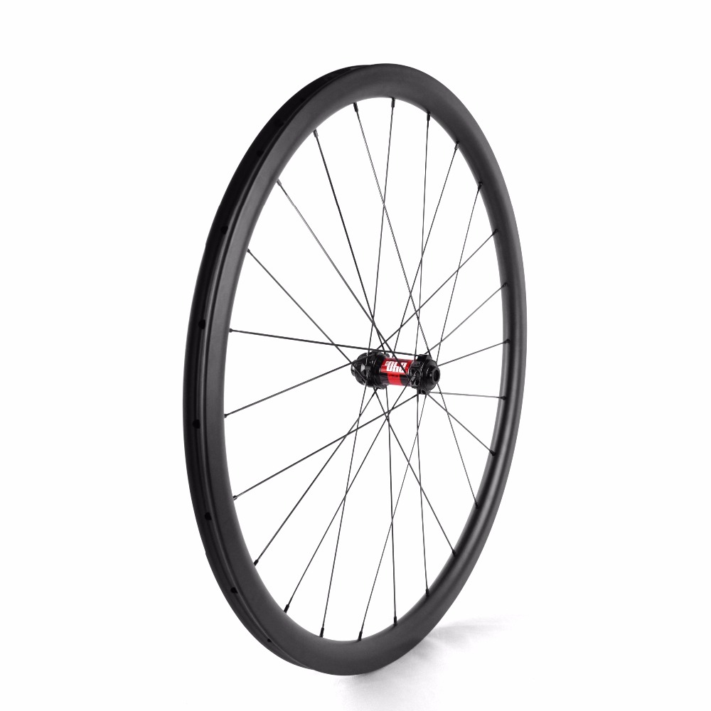 Yishunbike road bicycle disc brake carbon wheel 240-55mm profile OEM painting accept China factory