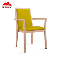 Professional wood grain dining chair cafe furniture stacking upholstered chairs