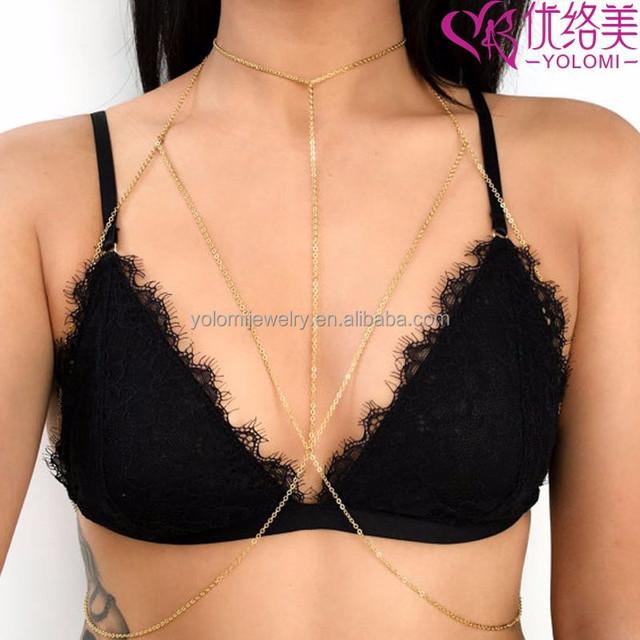 Wholesale Bra Body Chain Jewelry Bra Necklace Gothic Beauty Bra Body Chain Jewelry 0304L01