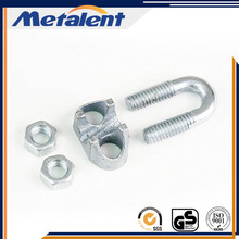 High quality stainless steel double wire rope clamp/metal wire clips in China