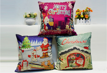Square Fashion Cotton Throw Sofa Christmas Pillow Case