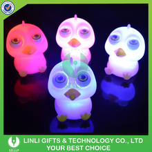 Custom Squeeze Eyes Pop Out LED Color Changing Night Light For Baby