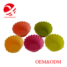 Family hang-making baking utensils Square Cupcake Liners silicone kitchenware