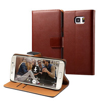 Premium Leather Flip Wallet Phone Case for Samsung S7 edge Sample Free Wholesales Promotion