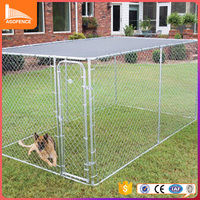 Galvanized Outdoor Modular Dog Kennel Design for Large Dogs