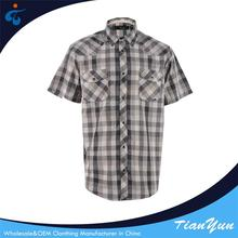 China factory fashion check linen shirts wholesale