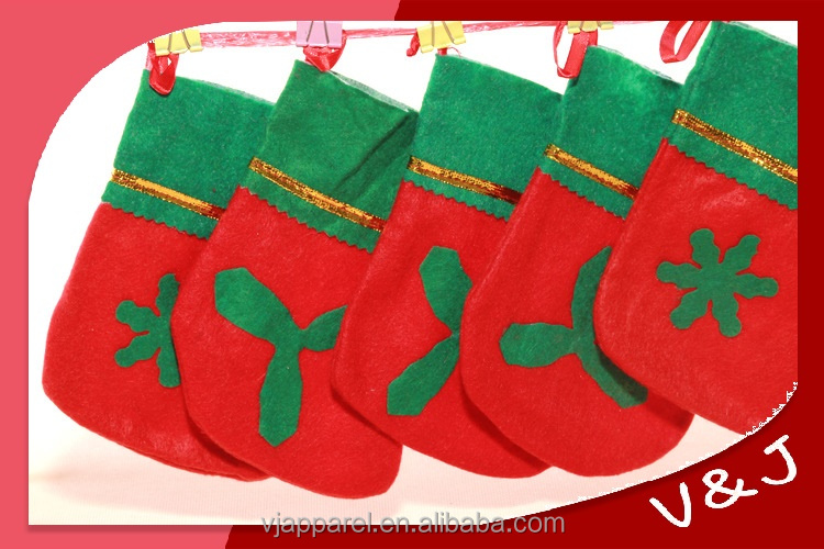 Christmas sock shape bag for candy package