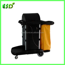 ESD Commercial Janitor's Plastic Cleaning Cart With Cover