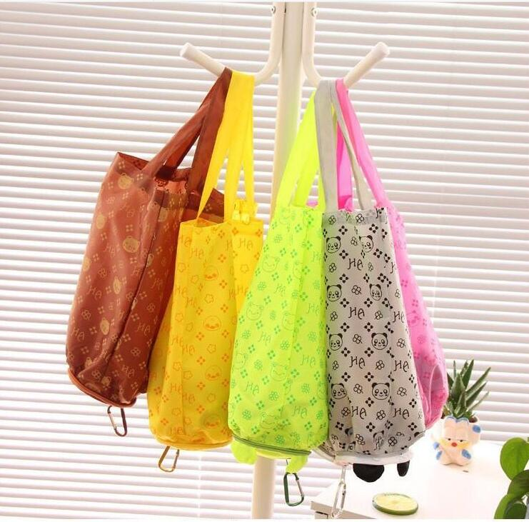 MIC New Cute Useful Animal Bear Panda Pig Frog Duck 5 Patterns Foldable Eco Reusable Shopping Bags