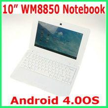"10.1"" VIA 8850 Netbook CORTEX A9 1.5GHz Android 4.0 EPC UMPC WIFI webcam laptop HDMI WM8850 notebook playstore youtube skype"