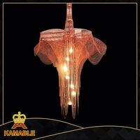 Indoor modern steel chandelier and pendant light decorative with warm tones