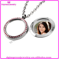 IJD9005 pink charm cut glass crystal picture frame pendants