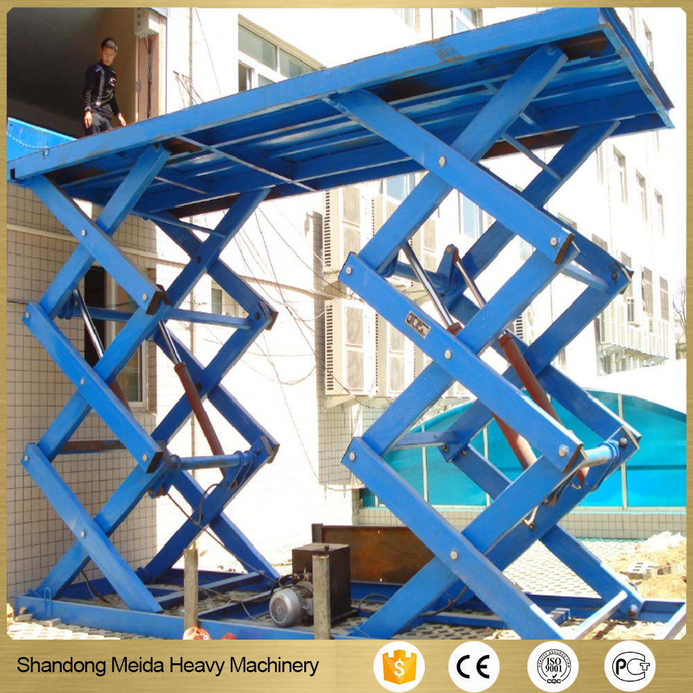 Warehouse lifting machine scissors lift table building lift price