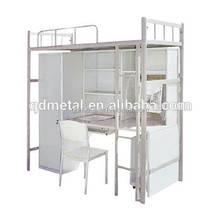 Hot researching metal bunk beds with desk with high quality metal bed frame from China