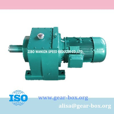 Helical Gear R Series Electric Reduction Gearbox Motor