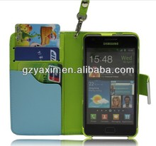 Credit Card Wallet Leather Case For Samsung Galaxy S2 I9100,Card Holder Case For Samsung Galaxy S2