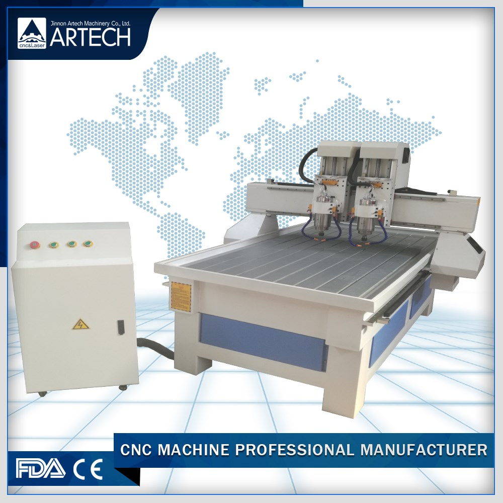 stone engraving cnc router 9015 with double spendle
