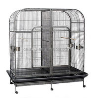 Twin Dual Double Large Pet Bird Cage Parrot Cockatoo Aviary Removable Divider
