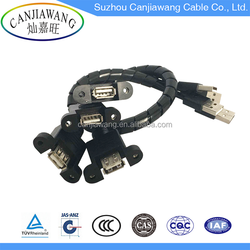 Multi USB Extension Cable Standard AM to AF Panel Mount with screw USB Data Cable Male to Female