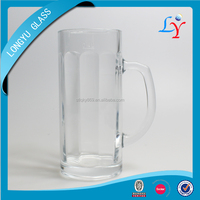 High Quality Glass Beer Mug Carlsberg Beer Glass Glass Mug With Handle
