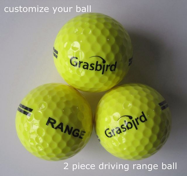 long distance 2 layers outdoor driving range golf ball