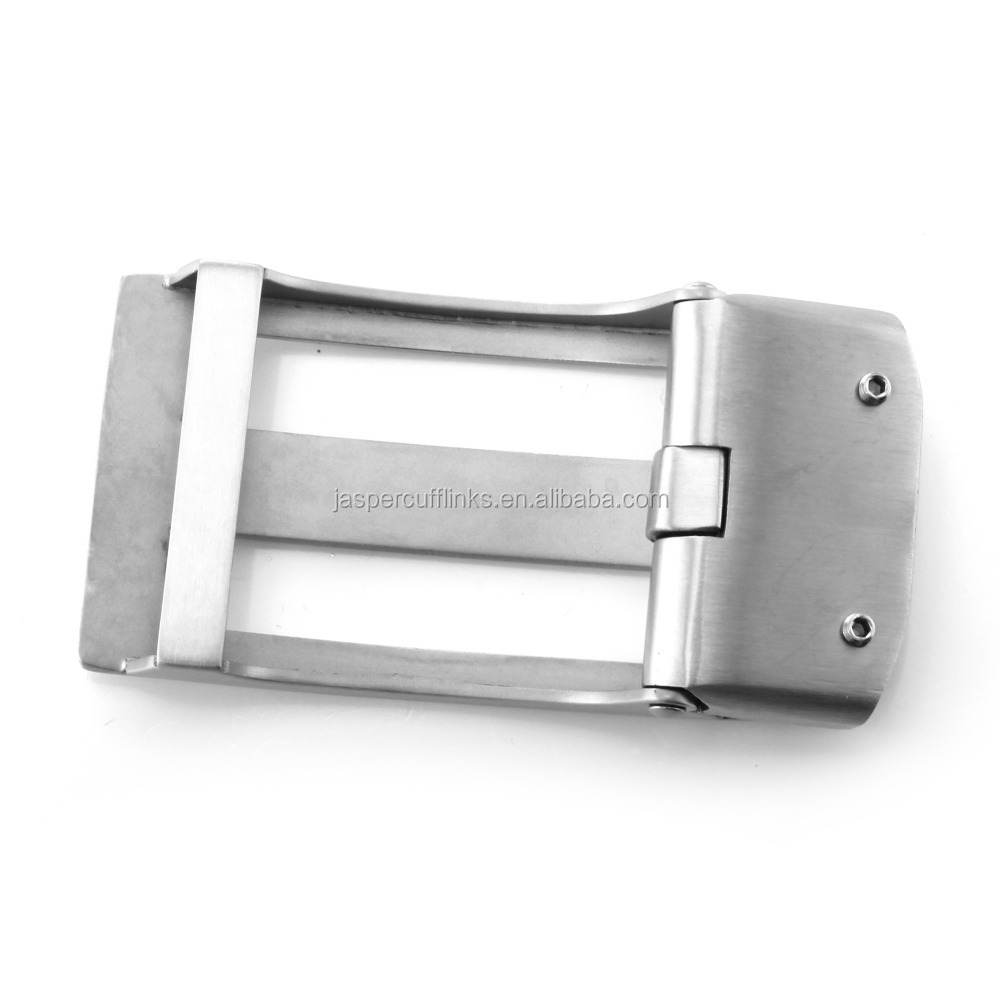 2015 hotsale stainless steel flat leather belt buckle