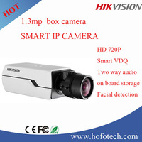 Hikvision 1.3MP WDR IP Camera,Smart facial detection two way audio cctv camera DS-2CD4012FWD-(A)(P)(W)