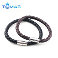 2016 wholesale fashion mens bulk pu leather bracelet for men
