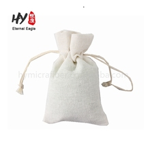 Pure color coarse cereals packing linen drawstring pouch wholesale