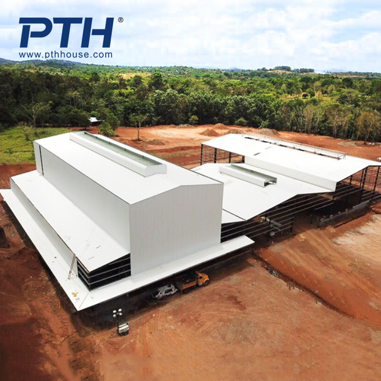 high quality steel structure  plant with sandwich wall panel and steel frame