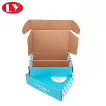 Rigid corrugated shipping box for metal accessories packaging