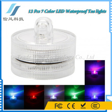 12Pcs 7 Color LED Waterproof Tea lights Rechargeable Tealight Candle