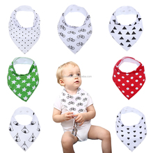 Lunch Bibs Bandana Towel Triangle Head Scarf Dot Printiing Bibs Saliva Towel For Girls Boy Kids baby bib