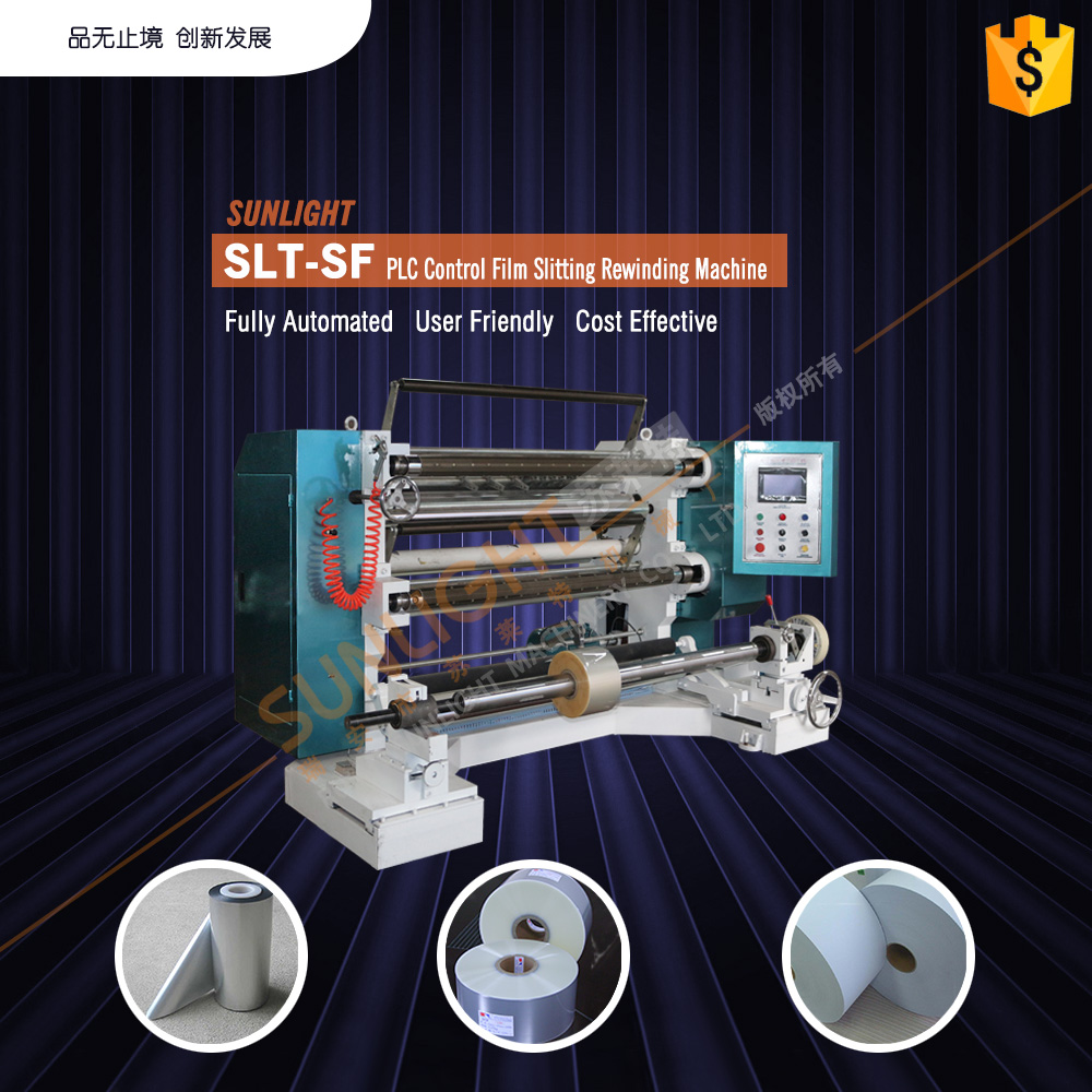 pe bopp jumbo roll paper slitting machine for sale with CE