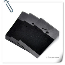 Black Plastic Earring Hooks Display Cards