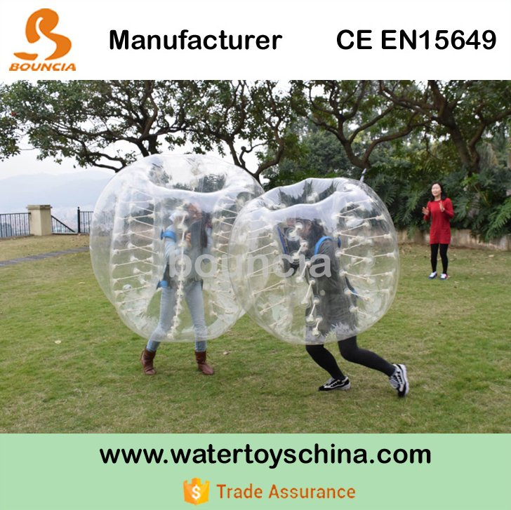 TPU Inflatable Body Zorb Bumper Ball / Bumper Ball For Kids / Inflatable Human Soccer Bubble