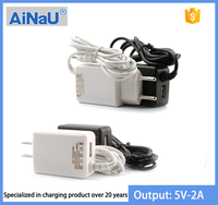 USB Charger with Cable , 5V 2A EU / US Plug , AiNaU 810UD [ MOYOTO ORIGINAL ]