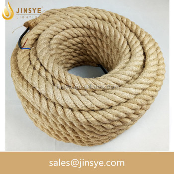 VDE/UL Hemp rope decorative electrical cable