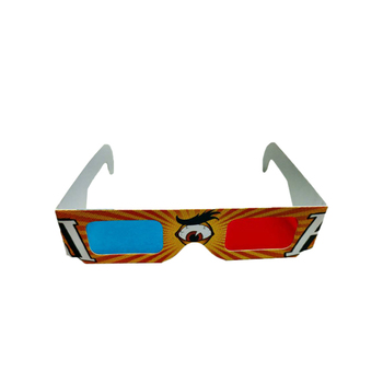Red/Cyan Cardboard 3D Glasses - Folded in Protective Sleeve,Cheap Paper 3D Glasses