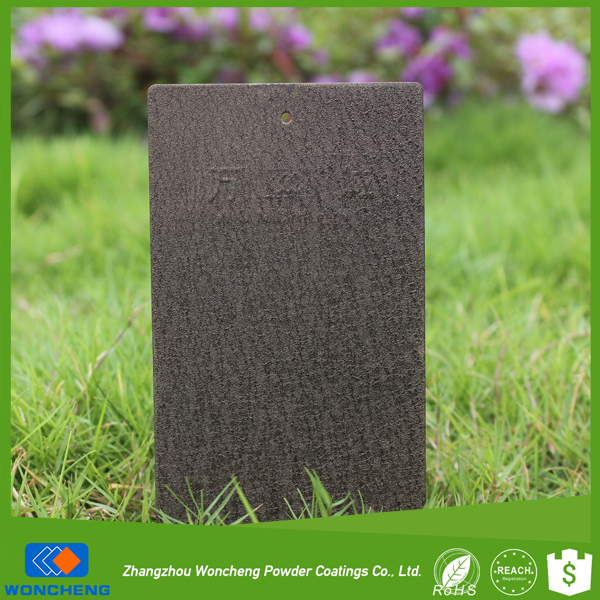 Coffee Leather Glittering Effect Outdoor Powder Coating