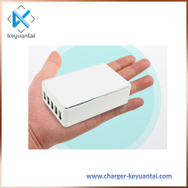 Desktop 5 usb adapter, usb adapter with kc certification for whole family to travel all over the world