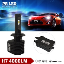 Zhuhai 4000lm h7 d2s 9004 LED Headlight bulbs x2