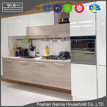 modern design home furniture pvc l-shaped kitchen cabinet drawer slide