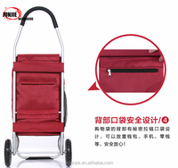 Space Saving shopping folding rolling cart with basket for sale